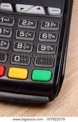 Payment Terminal, Credit Card Machine On Desk