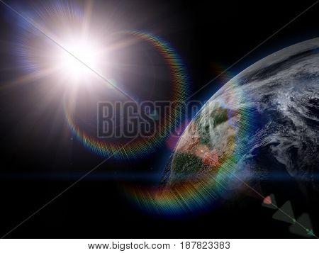Beautiful Earth In Space