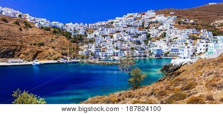 Traditional Greece - beautiful Astypalea island. View of Chora village