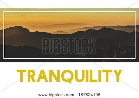 Tranquil Beautiful Nature Mountain Word