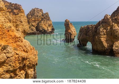 Cliffs of Ponta da Piedade, Lagos, Algarve, Portugal