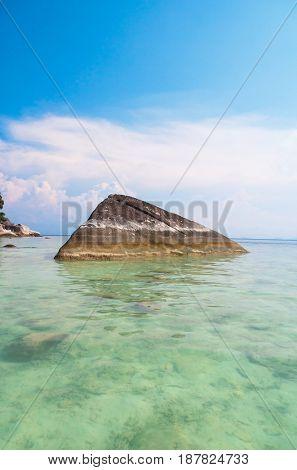 Idyllic Island Sunny Rocks