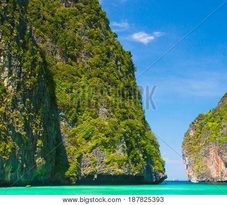 Idyllic Island Blue Seascape