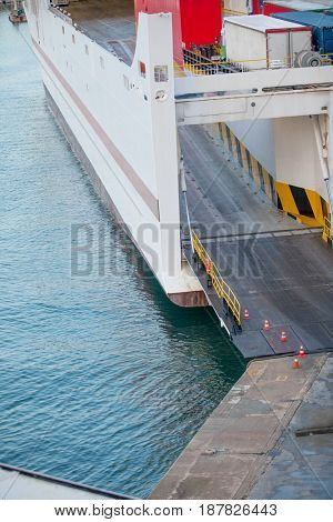 cargo ferry boarding car ramp