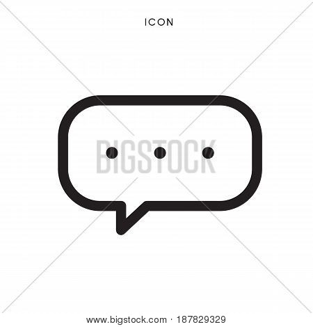icon outline comment on white background, vector