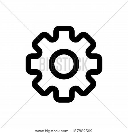 Gear vector icon. Black and white gears illustration. Outline linear icon. eps 10