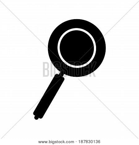 Magnifying glass icon, vector magnifier or loupe sign. eps 10
