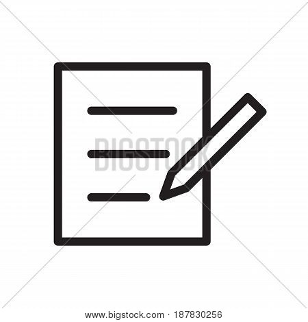 icon write for website on white background, vector