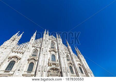 Detail Of The Milan Duomo