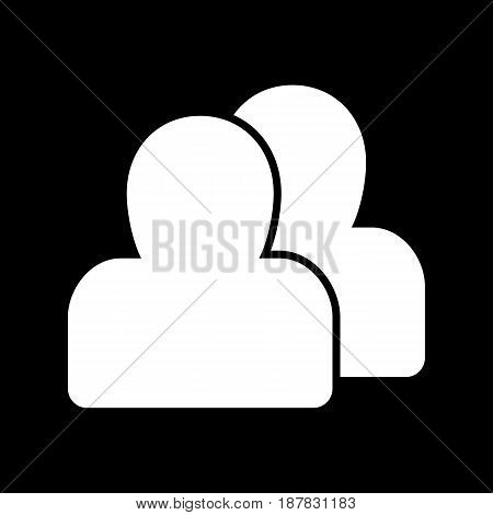 Person silhouette vector icon. Black and white user avatar illustration. Outline linear icon. eps 10