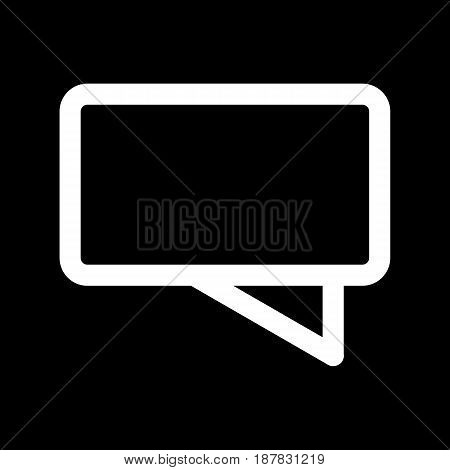 Chat vector icon. Black and white message illustration. Outline linear icon. eps 10