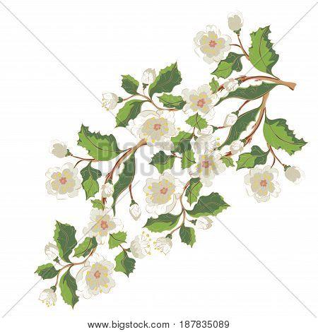 White Blossom Ornament