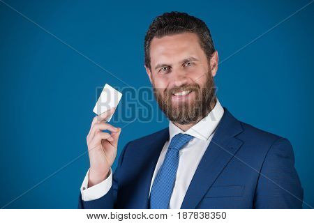Business Ethics, Credit And Savings, Card In Hand Of Man