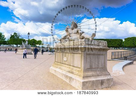 Paris France - May 2 2017: The statue