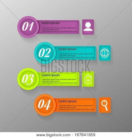 Vector infographic design template. Vector EPS  10.