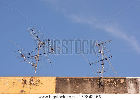 Antenna on Sky Television antenna TV antenna on the roof