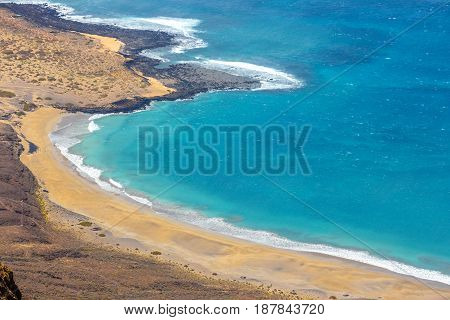 Impressive View From Mirador Del Rio To Island Of La Graciosa, Lanzarote, Canary Islands