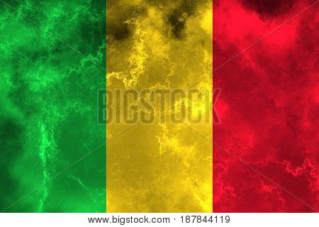 Mali flag grunge background. Background for design in country flag