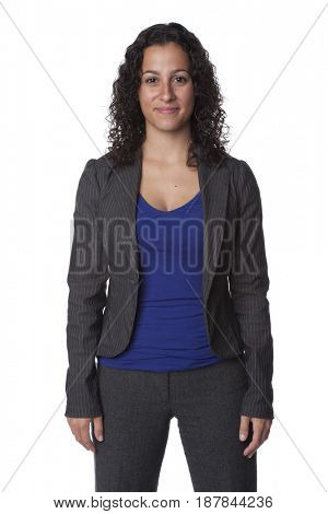 Smiling Caucasian businesswoman