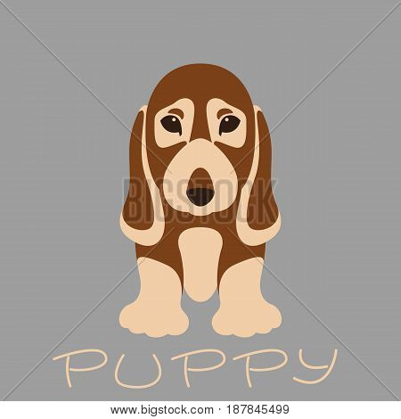 dog   puppy vector illustration style Flat front side