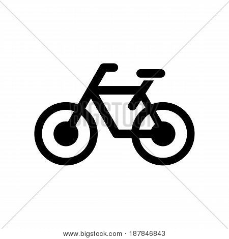 Bicycle icon simple style flat vector illustration.