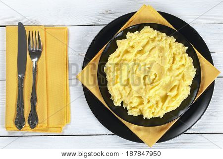 Delicious Hot Mashed Potato On Plate