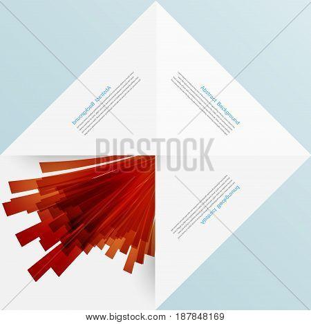 white square. Paper origami and explosion. design web illustration