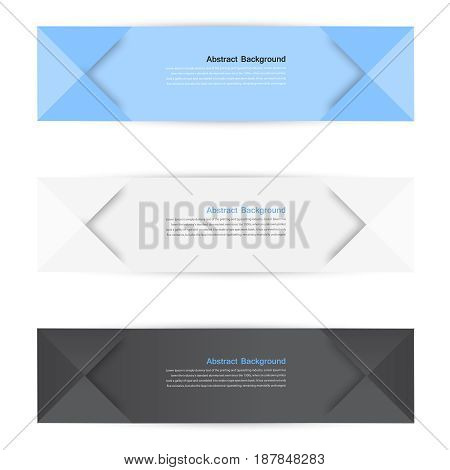 color banners. Curve and paper origami. design web illustration