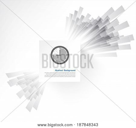 white square. Ray and explosion. design web illustration