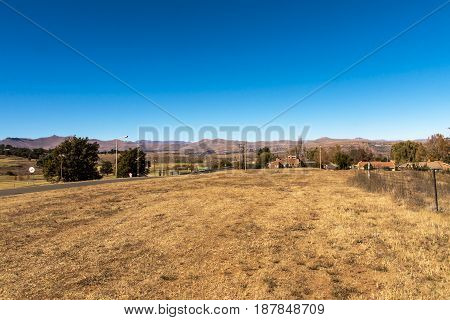 View Of Mountain Countryside And Blue Sky