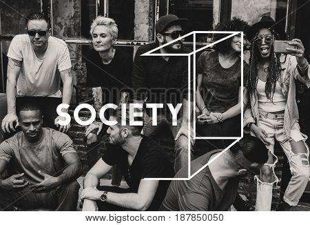 Diversity Group of Friendship Togetherness Society Socialize