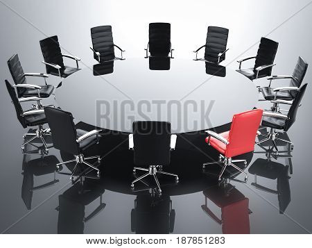 Leadership Concept With Red Office Chair