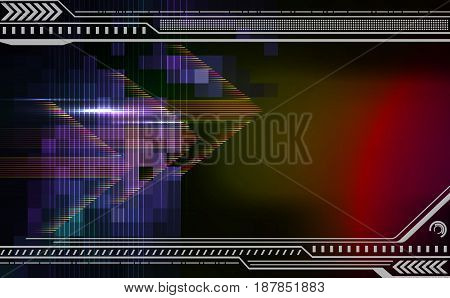 Abstract  techno background with arrows. Vector illustration.