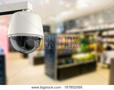3D Rendering Security Camera Or Cctv Camera