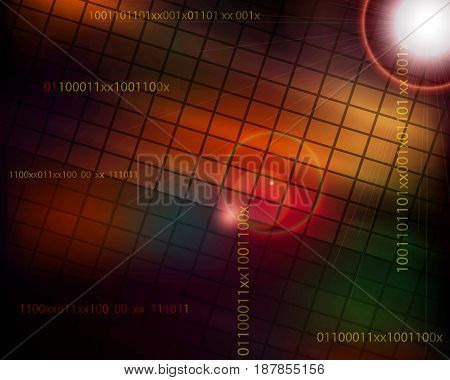 Abstract geometric technology and science background. Vector illustration.