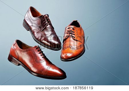 Fashion Classical Polished Men's Brown Oxford Brogues Shades Of Brown Oxford Brogues.conept Flying S