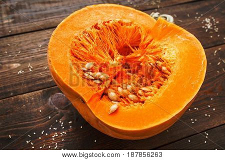 Pumpkin Autumn Healthy Food Nutrition Seasonal Vegetable Concept