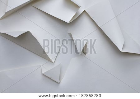 abstract geometry triangle shape white paper texture