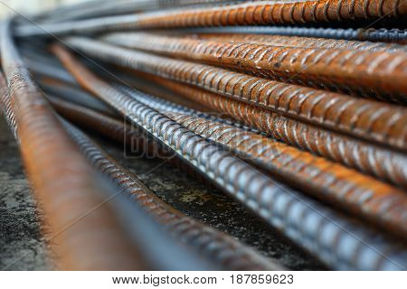 rebar steel reinforcing rod bar in construction industry poster