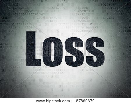 Business concept: Painted black word Loss on Digital Data Paper background