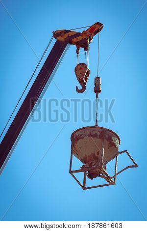 Machinery Crane Hoisting Cement Mortar Mixer Bucket Containe