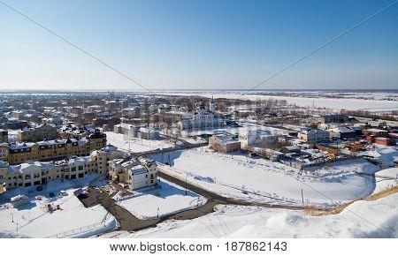 Siberian city of Tobolsk in the winter, Russia