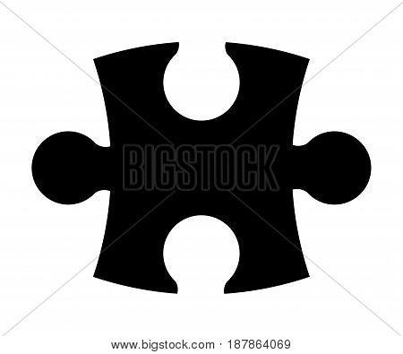 Puzzle Silhouette Vector Symbol Icon Design.