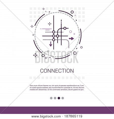 Social Network Communication Connection Chatting Message Web Banner With Copy Space Vector Illustration