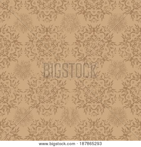 Vector seamless grunge texture in retro style.