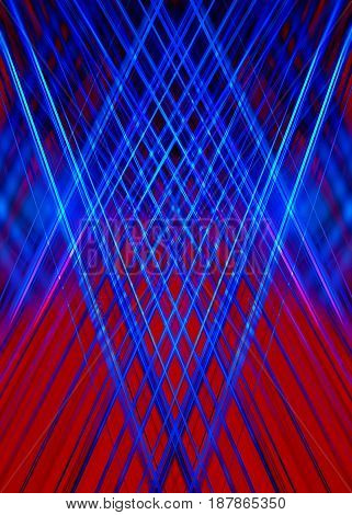 Abstract red and blue overlapping light streaks background
