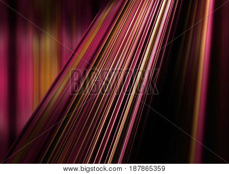 Dynamic red and yellow striped background with selective focus