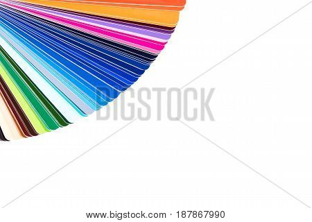 Color palette isolated on white background color catalog guide of paint samples