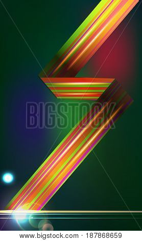 Designed abstract light vector background with technology lines.