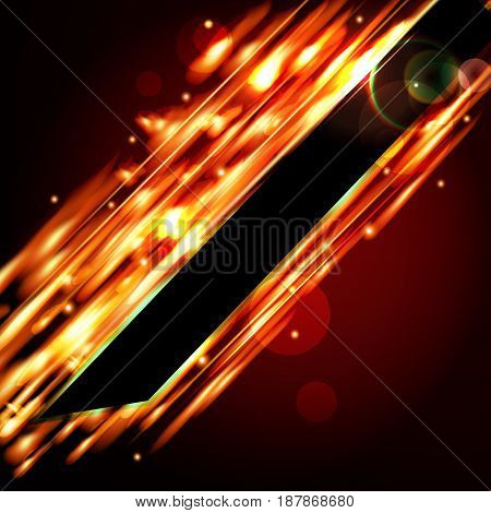 Fiery vector background with free space for your text.